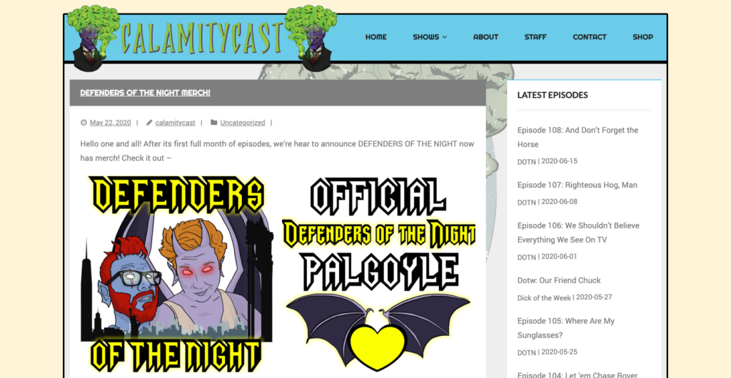 CalamityCast website