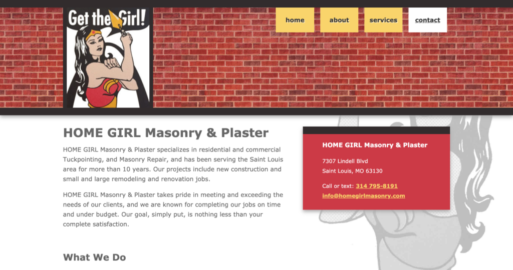 HOME GIRL Masonry & Plaster